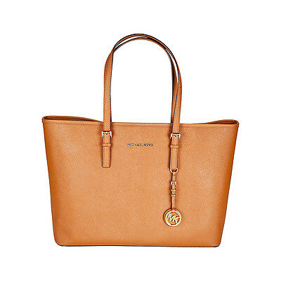 Michael Kors Jet Set Multifunction Tote Handbag in Luggage - Tan