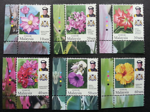SJ-Malaysia-Garden-Flowers-Definitive-Issue-Johor-Sultan-2016-stamp-color-MNH