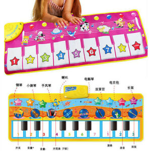 Musical-Blanket-Baby-Kid-Toy-Piano-Keyboard-Touch-Play-Learn-Singing-Carpet-Mat