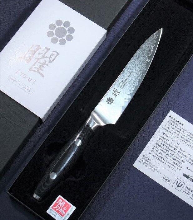 JAPONAIS PETTY Couteau de cuisine Yo-U 69 Couches Damas VG10 120 mm Made in Japan