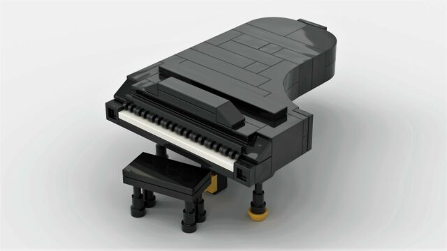 Lego Grand Piano Custom Moc Pdf Instructions Only No Bricks Ebay