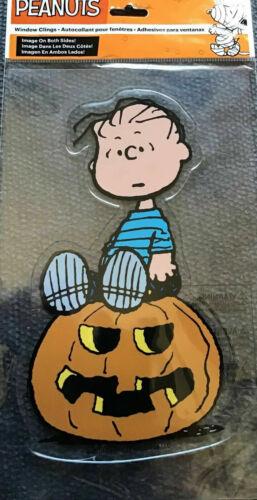 New PEANUTS Halloween LINUS Decorative Window Cling