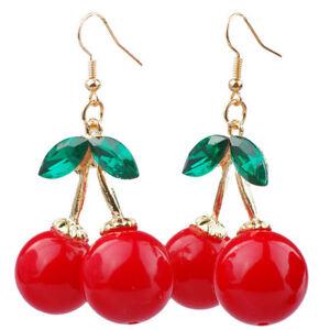 1Pair-Women-Fashion-Cherry-Drop-Dangle-Rhinestone-Ear-Hook-Earrings-Jewelry-Gift
