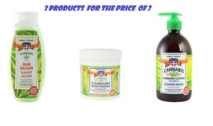 Set-of-3-Herbal-Massage-Gel-Regeneration-Ointment-Hair-Balsam-WITH-HEMP
