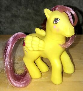 1985 Hasbro My Little Pony MLP G1 Magic Message Floater Yellow Pegasus Balloons