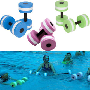 2x Water Aerobics Dumbbell EVA Aquatic Barbell Aqua Fitness Pool Exercise Medium