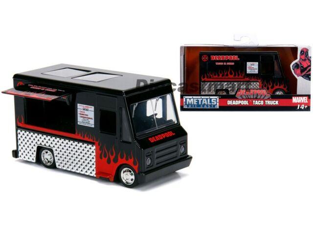 Jada Toys 1:32 Marvel Deadpool taco Truck metal maqueta de coche