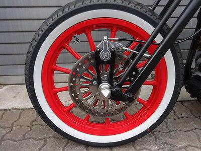 Springergabel Bremse PM Harley Old School Bobber Bremssattel Springer Halter