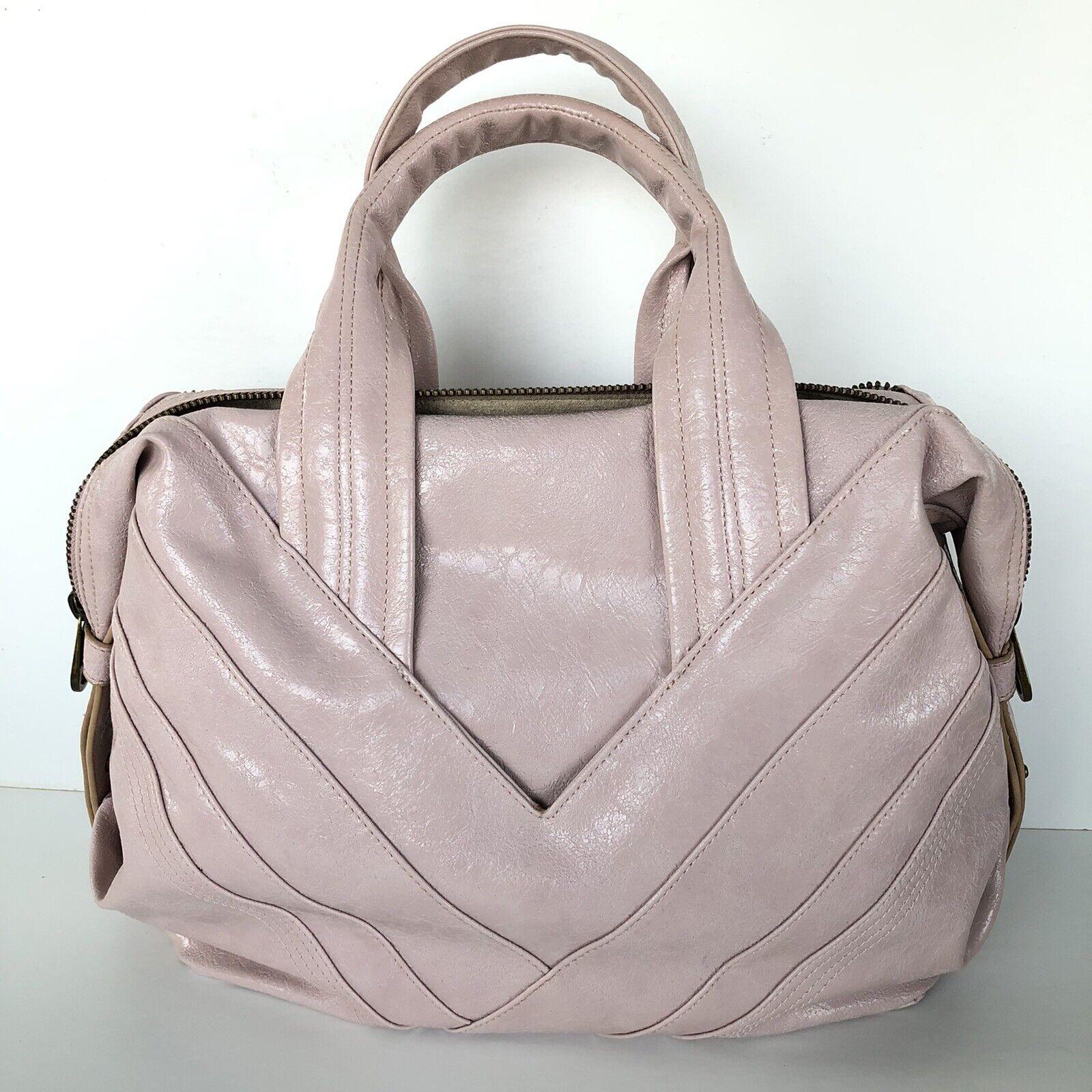 MATT & NAT Dusty Pink Zipper Embellished Crackled… - image 3