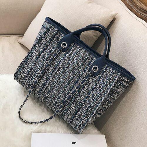 Details about  /Women Luxury Handbags Fashion Tote Big Capacity Wool Leisure Casual Shopping Bag