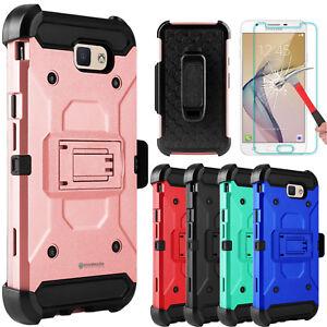For-Samsung-Galaxy-J7-V-Sky-Pro-Prime-Armor-Case-With-Kickstand-Screen-Protector