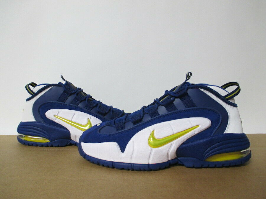 NIKE AIR MAX PENNY Deep Royal jaunew blanc Taille 8-14
