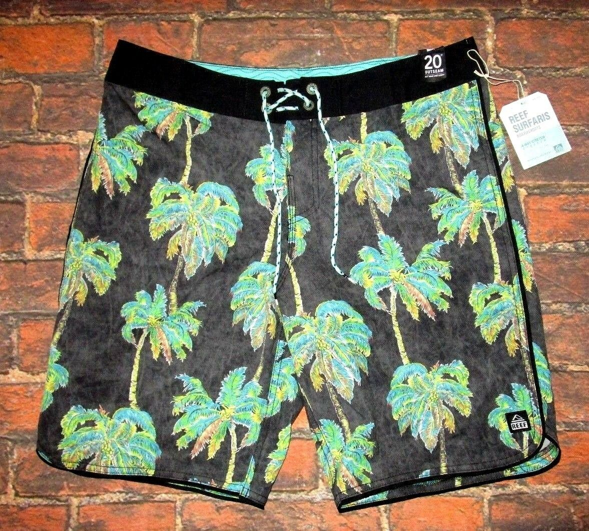 MENS REEF PALMS SWIM BOARD SHORTS SIZE 33