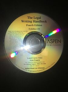 Details about The Legal Writing Handbook Forth Edition Exhibits CD Aspen  Publishers Law & Bsns