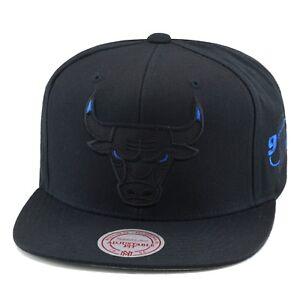 78c33b2e Mitchell & Ness Chicago Bulls Snapback Hat BLACK/BLUE EYES ...