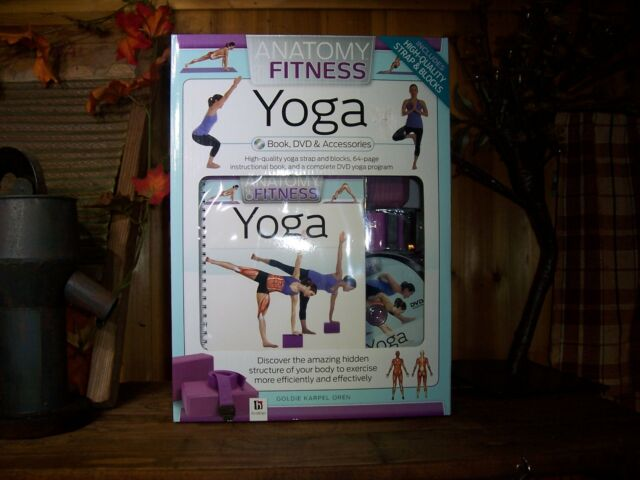 Anatomy of Fitness Yoga Kit Set Book DVD Accessories | eBay