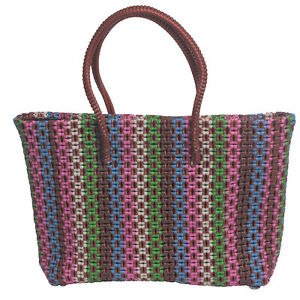 Image Is Loading Upcycled Plastic Tote Bags Handmade In India Fair