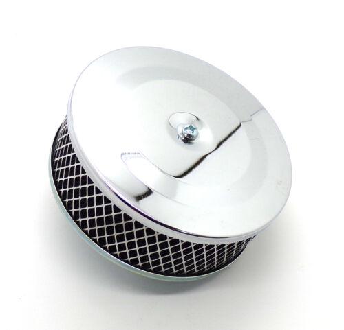 VW Macchina Universale Cromato Stile Pancake filtro aria per carburatori Solex