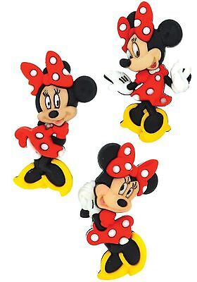 NEW DISNEY BOW-TIQUE MINNIE NOVELTY DRESS IT UP BUTTONS SEWING  CARDMAKING