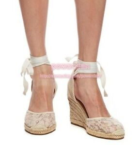 Womens-Lace-Ankle-Strap-Platform-Wedge-Sweet-Round-Toe-Sandals-Espadrille-Shoes