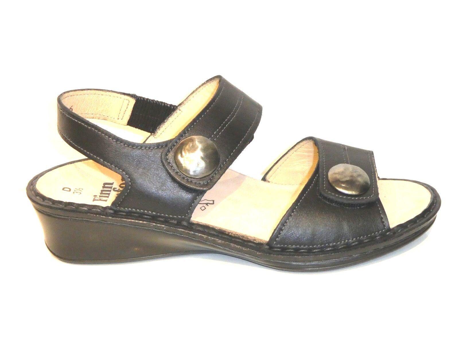 Finn Comfort Schuhe Sandalen Pantoletten Alanya schwarz Leder Einlagen bequem
