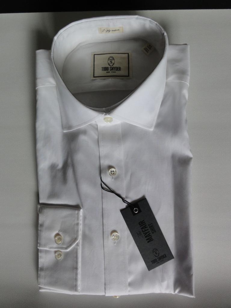 TODD SNYDER DRESS SHIRT,Weiß, Größes 15,16(32/33), 15,15.5,16.5 (34/35),MSRP125