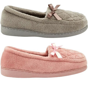 LADIES-WOMENS-SOFT-WARM-WINTER-MOCCASINS-BOW-SLIP-ON-SHOES-SLIPPERS-SHOES-SIZE