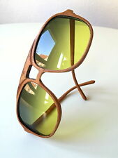 vintage ROBERT CLAUDE Paris sunglasses full leather wrapped funky lenses rare