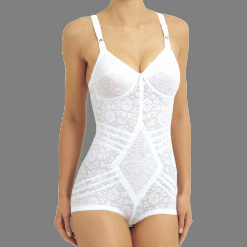Rago Shapewear Extra Firm Shaping White Body Briefer Size 44 Multiple Cup Sizes