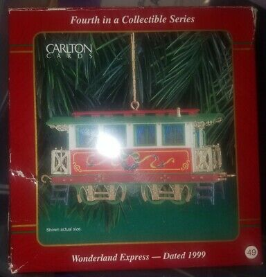 Details about  /Heirloom Carlton Cards Wonderland Express Dated 1996