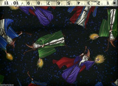 Timeless Treasures ~ Colorful Wizards /& Magicians ~ 100/% Cotton Quilt Fabric BTY