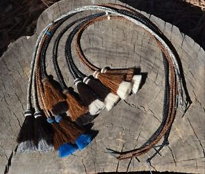 Braided-Horsehair-Stampede-String-Mule-Tail-Tassels-Cotter-Pin-Assorted-Colors