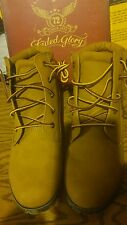 Faded Glory Women's Utility work Boot Size 10 Golden Brown yellow *NEW*