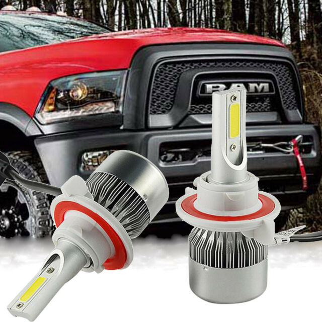 Cob H13 9008 Led Headlight Bulbs Replace For Dodge Ram 1500 2500 3500 2006 2017 Online Ebay