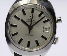 Authentic OMEGA Geneve Chronostop Date Hand-winding Men's Wrist Watch _327917
