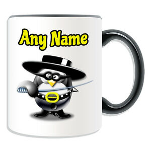 Personalised Gift Zorro Mug Money Box Cup Funny Novelty Penguin Cartoon Disney