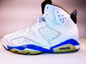 70f9f64616 Details about NIKE AIR JORDAN RETRO 6 SPORT BLUE #384664-107 WHITE ROYAL  BLUE SNEAKERS (13)