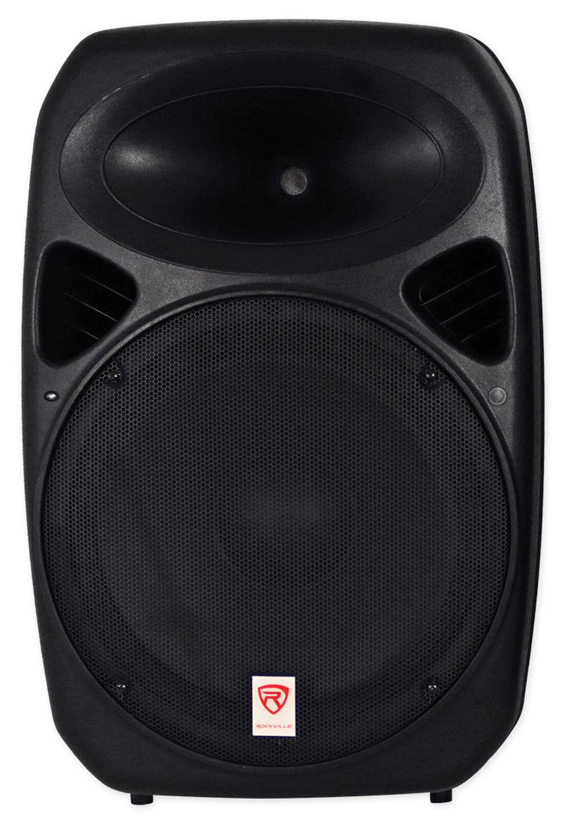 Rockville 15  Passive 750 Watt DJ PA Speaker ABS Lightweight Cabinet 8 Ohm