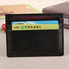 Men's Genuine Leather Front Pocket Slim Thin ID Credit Card Money Holder Wallet