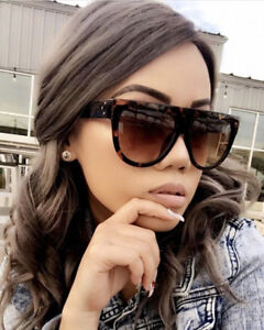 3b990504434d Oversized Large Big SHADOW Ombre Flat Top Teardrop Fashion Designer  Sunglasses