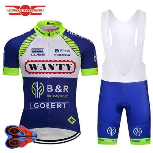 Wanty Gobert RETRO Cycling BIKE Jersey Shirt Tricot Maillot Bib Kit Set