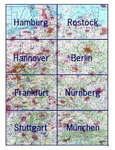icao karte 2016 1850 ICAO Karte Deutschland 2016 mit Folie Nur für Übungszwecke zu