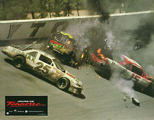 Photo crash NASCAR Daytona 500 speedway Mello Yello Motorccraft Days of Thunder