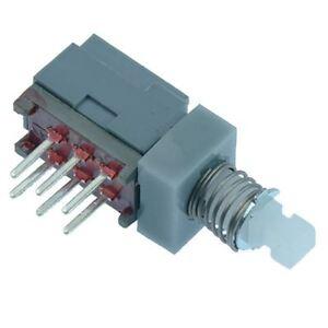 MINI Pulsante Interruttore DPDT aggancio PCB 30V