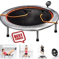 Trampoline Jogger Oval Rebounder Mini Handlebar Fitness Monitor Gym Circuit