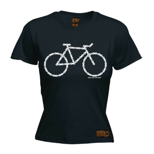 Donna Catena Bici Ciclismo Bicicletta FUNNY Top birthdayátee T Shirt T-shirt