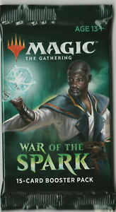 1-Sealed-New-Unopened-War-Of-The-Spark-MTG-English-Booster-Pack