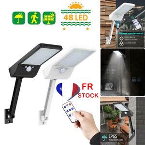 48LED-Lampe-Solaire-PIR-Capteur-Mouvement-Projecteur-Jardin-Exterieur-Eclairage