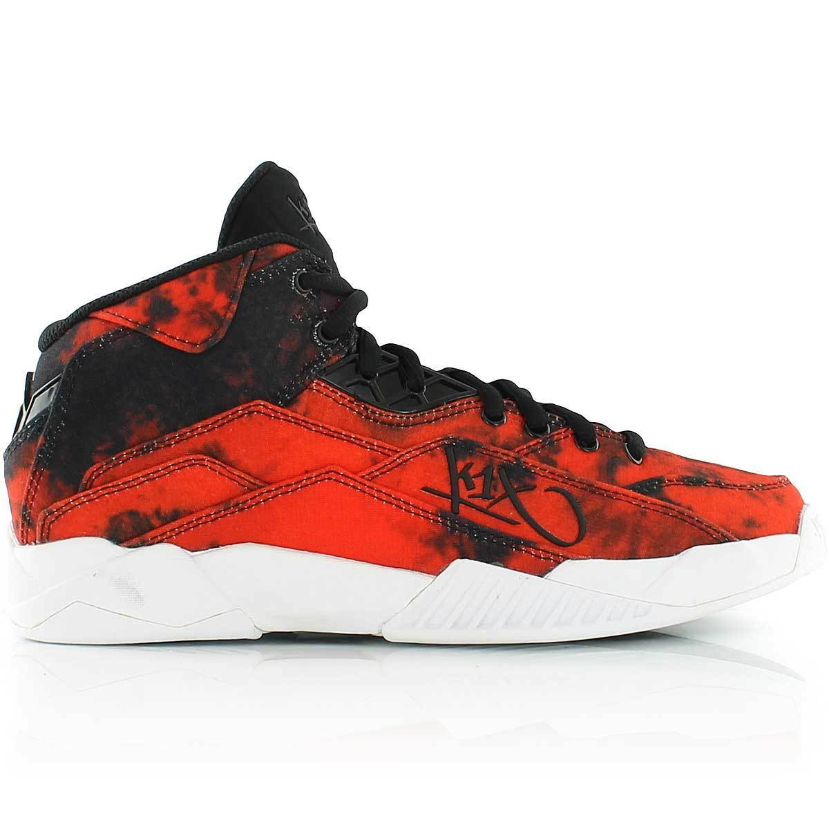 K1X anti Gravity Red Tiedye Basketball shoes Red mid Cut