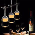 LED Luz Lámpara De Techo Copa Vino Vidrio Bar Colgante Moderno Iluminación Casa